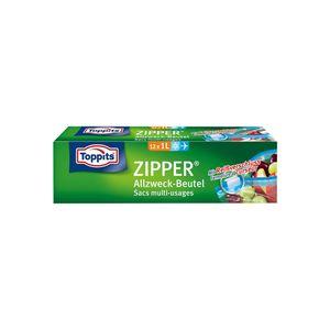 TOPPITS Zipper Allzweck-Beutel 12 x 1L (20 x 15cm)