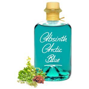 Absinth Arctic Blue 0,7L Eisbonbon Mit maximal erlaubten Thujon 35mg/L 55%Vol