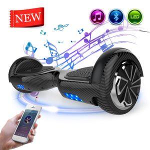 Mega Motion Hoverboard 6,5 Zoll Hoverboard mit Bluetooth Selbstausgleichender Elektroroller Smart Board  LED Hoverboard Kinder und Erwachsene Geschenk