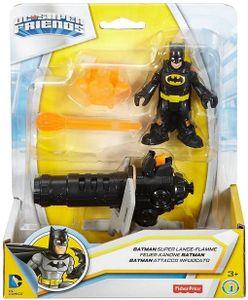 Fisher-Price Imaginext DC Justice League Figuren Batman Feuer-Kanone 7 cm
