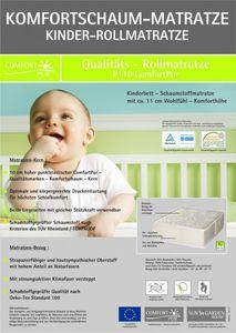 Kinderrollmatratze in den Maßen 60x120 und 70x140 cm, Matratzen-Abmessung:70 x 140