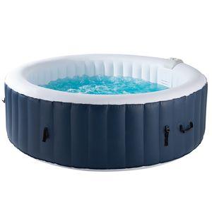 Rund für bis zu 4 Personen 800L Whirlpool SpaPool Wellness Heizung Außenwhirlpool In-Outdoor aufblasbar