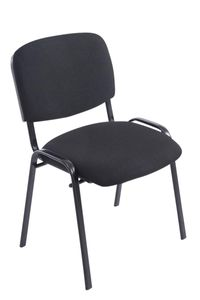 CLP Stapelstuhl XL Ken Stoff stapelbar und mit robustem Metallgestell, Farbe:schwarz