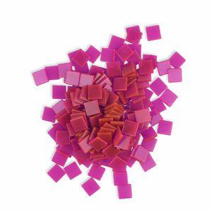 Creleo - Mosaiksteine 10x10mm pink 190 Stück 45 g
