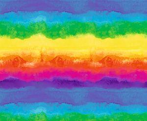 "Motiv-Fotokarton ""Watercolor Regenbogen"", ca. 49,5 x 68 cm"