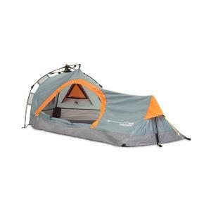 Campingzelt Solo-Zelt für 1 Person, Dreieck 225x100x57 cm Wandern Trekking Hiking, platzsparend, kompakt, ultraleicht