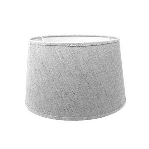 Lampenschirm für E14 E27 Fassungen grau Leinenoptik 18 cm  Polyester/Baumwolle