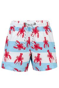 Snapper Rock - Badehose Lobster - Blau / Rot, 74/80