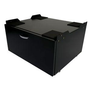 Waschmaschinenunterschrank MCW-E50, Sockel Podest Erhöhung Untergestell, Schublade 33x61x52cm  schwarz