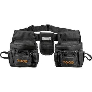 TOOD Werkzeuggürtel mit 2 Taschen mit mehreren Fächern