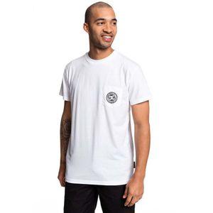 DC Herren T-Shirt BASIC POCKET TE , Größe:S, Farben:wbb0-snow white