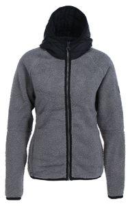 CHIEMSEE Damen Teddyplüsch Jacke Regular Fit, Größe:XL, Chiemsee Farben:Ebony