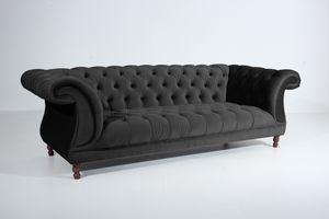 Max Winzer Ivette Sofa 3-Sitzer - Farbe: schwarz - Maße: 253 cm x 100 cm x 80 cm; 2994-3880-2044240-F07