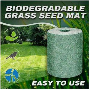 Biodegradable Grass Seed Mat,Anzuchtmatte sprossen, Gartenbausamen mat für Sportrasen Rasen (20*300cm, 1 Pcs)