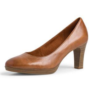 TAMARIS Damen Leder Pumps Braun, Schuhgröße:EUR 40