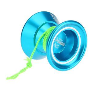 Professionelle Magie Yoyo N5 Desperado Aluminiumlegierung Metall Yoyo 8 Kugel KK Lager mit Spinnschnur fuer Kinder Blau