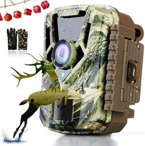 Annew-Wildkameras - Jagdkamera - 16MP 1080P HD-Kamera, PIR-Bewegungssensor, wasserdichtes IP65, Nachtsichtgerät mit 3 Infrarotsensoren für Outdoor-Natur, Garten, Haussicherheitsüberwachung Grün