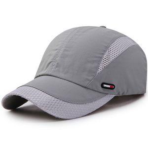 Herren Damen Mesh Baseball Cap Basecap Trucker Kappe Sport Golf Mütze Sommer Hut,Grau