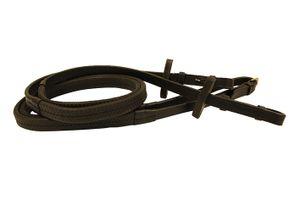 Horseware Rambo Micklem Rubber Zügel Warmblut schwarz