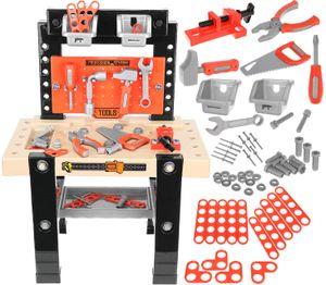Werkbank Spielzeug Rollenspiel Kinderbank Werkzeugset  mit Zubehör Heimwerker Werkstatt für Kinder  9420