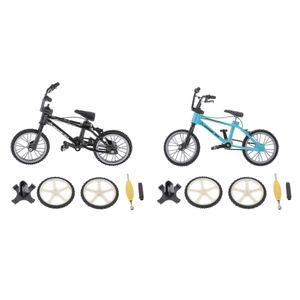 Legierung Finger Fahrrad Bmx Modell Kinder Kinder Spielzeug Finger Bord Blau + Schwarz
