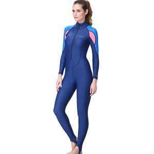 Frauen Schnorcheln Surfen Tauchen Einteiliger Ganzkörper-Neoprenanzug Badeanzug LLI90424003L