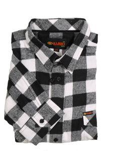 Holzfäller-Langarmhemd von Kamro bis Übergröße 10XL, weiß, Größe:5XL