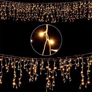 Deuba LED Lichterkette Regen Innen Außen Warmweiß Kaltweiß Lichternetz Lichtervorhang Beleuchtung Außen Innen Weihnachten Weihnachtsdeko Weihnachtsbeleuchtung, Model:400 LEDs