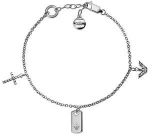 Emporio Armani EG3064 Damen Armband Sterling-Silber 925 Weiß 21,5 cm