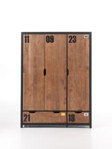 Vipack AXKL1319 Kleiderschrank 3-trg. Alex; ( 148 cm x 200 cm x 55 cm )