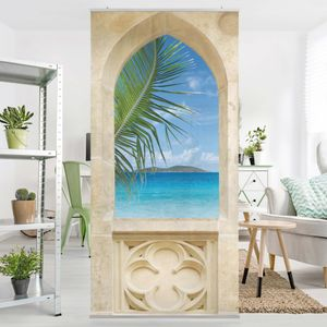 Raumteiler - No.241 Ocean View 250x120cm, Aufhängung:inkl. transparenter Halterung