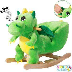Schaukeltier Schaukelpferd Plüsch Schaukelspielzeug Wippe Kinder Baby Spielzeug, Tierart:Dino