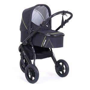 Knorr-Baby Kombikinderwagen HEAD SPORT3 Darkgrey-Yellow