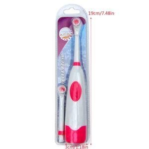 SanBeans Zahnaufhellung Rotierende elektrische Kinderzahnbürste mit 2 wasserdichten Bürstenköpfen Ersetzen Sie zufällige Farbe | Elektrische Zahnbürsten