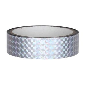 Hologramm Deko Klebeband 25mm x 30m, Silber