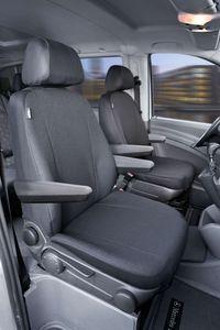 Walser Sitzbezüge für Mercedes Viano und Vito W639 für 2 Einzelsitze für Armlehne innen und aussen ab BJ 06/2003 - 2013, 10506
