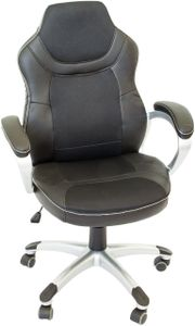 Bürostuhl schwarz mit Rollen, Schreibtisch-Stuhl
