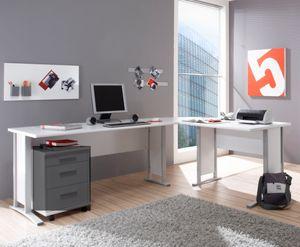 """Eckschreibtisch """"OFFICE LINE"""" Winkelschreibtisch Schreibtisch Büro Weiss"""