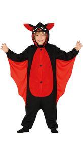 Fiestas Guirca kostüm Fledermaus Polyester rot Größe 128/134