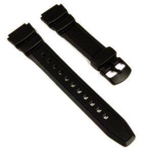 Casio Collection Uhrenarmband 18mm   Resin schwarz W-S200H, W-S210H