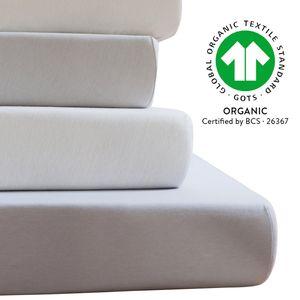 ESTELLA Jersey BIO-Spannbetttuch 6000 aus 100% Baumwolle , GRÖßE:100 x 200 cm, FARBEN:860 - stein
