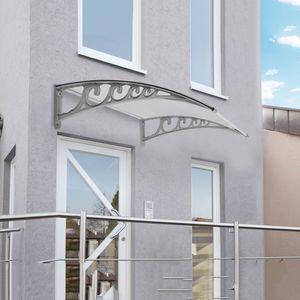 WYCTIN Vordach transparent Haustürvordach Türvordach Pultbogenvordach (60x100cm)