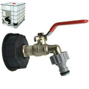 """Miixia Regenwassertank Adapter mit 1/2"""" Auslaufhahn Regenwasser 1000L Container Tank"""