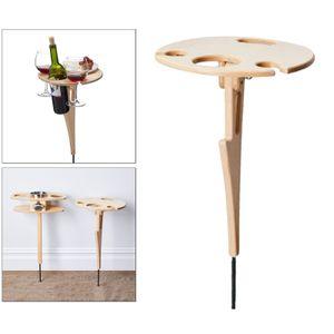 Outdoor Wein Tisch-Tragbare Picknick Tisch, Wein Glas Rack, Faltbare Tisch für Im Freien, Garten, Reise Stil 1
