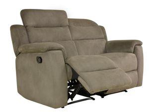 Relaxsofa Microfaser 2-Sitzer SIMONO - Taupe