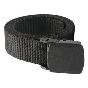 Outdoor Atmungs Männer Nylon Taille Gürtel Rutsche Schnalle-Schwarz Farbe Schwarz