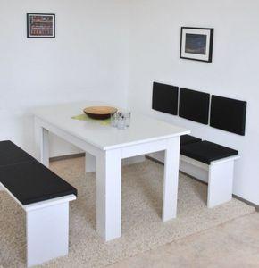 XXL Klemm-Kissen Sitz-Kissen für Sitz-Bank Kunstleder Breite 150cm viele Farben, Farbe:schwarz