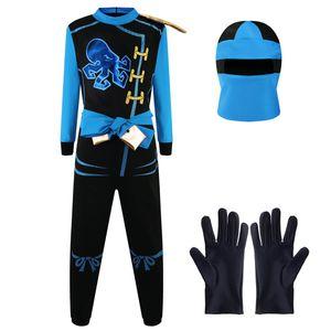 Ninja Kostüm Anzug - Verschiedene Farben und Zubehör Blau M