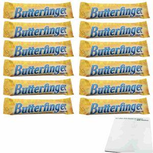 Butterfinger Candy Bar 12er Pack (12x53,8g Schokoriegel) + usy Block