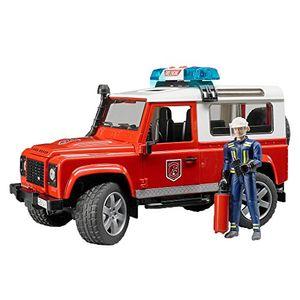Bruder Feuerwehr-Einsatzfahrzeug Land Rover Defender 1:16 02596